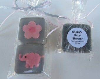 Pink Baby Shower Elephant Favors