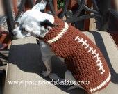 Football Custom Dog Sweater small Dogs 2-15 lbs Small Dog Sweater
