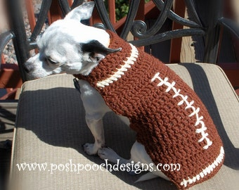 Football Custom Dog Sweater small Dogs 2-15 lbs Small Dog Sweater