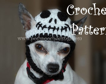 Instant Download Crochet Pattern - Skeleton Dog hat - Dog beanie 2 -15 lbs