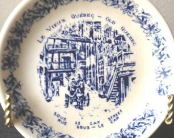Vintage Miniature Souvenir Plate Le Vieux Quebec - Old Quebec