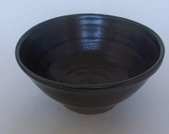 Breakfast bowl. With bronze glaze. Ceramics stoneware pottery