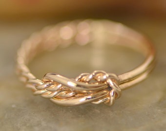 Gold Infinity Knot Ring, Knot Promise Ring, Thumb Rings, Love Knot Ring, Gold Ring, Infinity Jewelry, Infinity Knot Jewelry, Maid of Honor