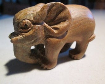 totem Elephant  netsuke, unpainted,NEW NOSE after nose job so many hated his old nose he is now re-done...