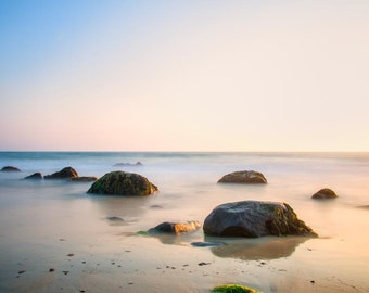 Philbin Beach, Aquinnah Martha's Vineyard Sunset 4- Fine Art Print