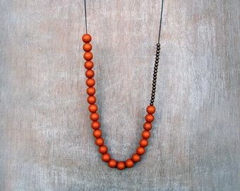Rusted orange necklace