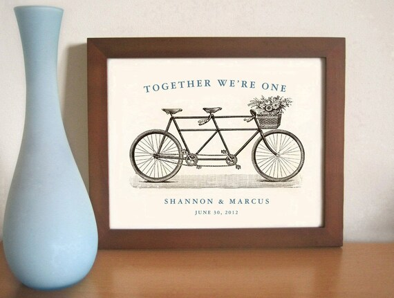 Unique Wedding Gifts For Newlyweds : ... GiftPersonalized Wedding GiftArt for CouplesBicycle For Two