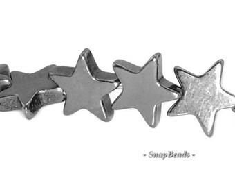4mm Noir Black Hematite Gemstone Black Star 4mm Loose Beads 16 inch Full Strand (90147112-336)