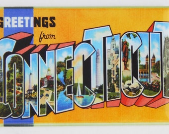 Greetings from Connecticut Fridge Magnet