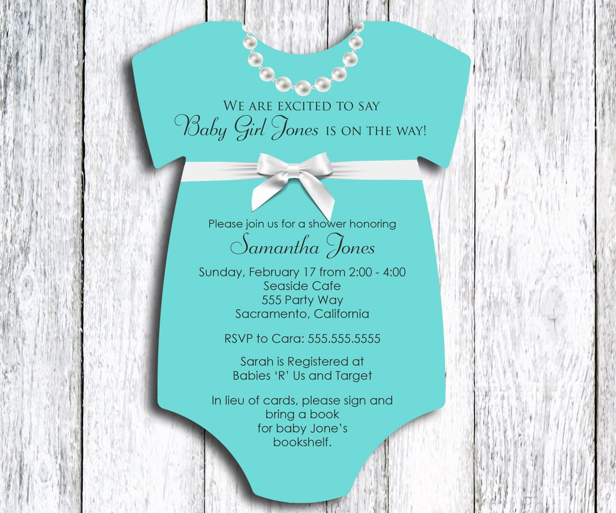 robin 39 s egg blue onesie baby shower invitation by sweetcartolina
