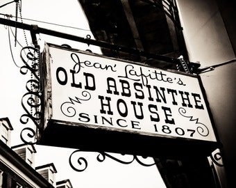 Jean Lafitte's Old Absinthe House, New Orleans French Quarter Bar, Mardi Gras, Wall Art, Home Decor