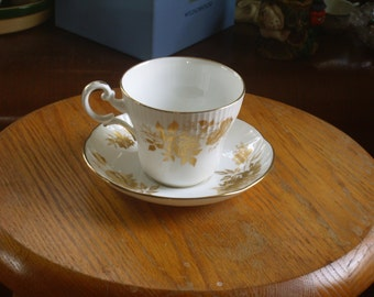 Crown Staffordshire Tea Cup and Saucer