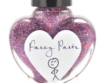 Fancy Pants Radiant Orchid Glitter Nail Polish 5ml Mini Bottle