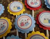 Max and Ruby Cupcake Toppers-Max and Ruby Toppers-Max and Ruby Birthday Decoration-Max and Ruby Party Decoration-Max and Ruby Party