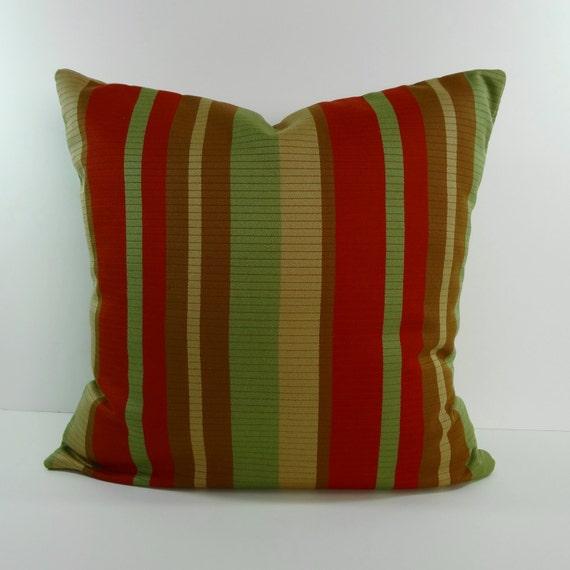Light Green Decorative Pillow : Decorative Pillow Cover Green Brunt Orange Light Brown