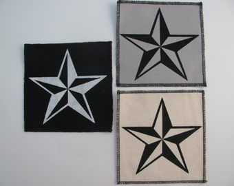 One Nautical Star patch in any color you choose....FREE SHIPPING USA