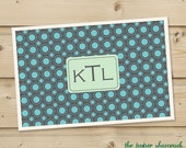 CIrcles -  Personalized Placemat, Customized Placemats, Custom Placemat, Personalized Gift