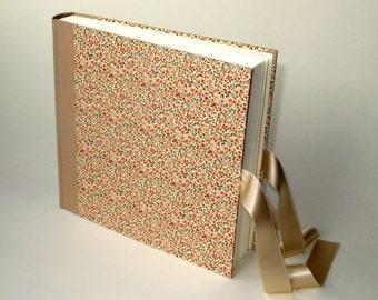 """Photo Album 23x23cm - cover Italian Paper CARTA VARESE Design 908 - """"Flower Field Red"""""""