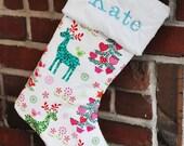 Christmas Stocking Nordic Aqua Holiday no.207 Wholesale