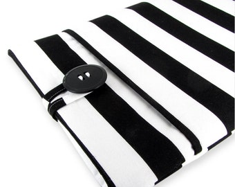Kindle Paperwhite Case, Kindle Paperwhite Sleeve, Kindle Paperwhite Cover, Kindle Cover, Kindle Sleeve, Kindle Case - Black White Stripes