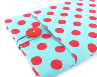 iPad Air 2 Case, iPad 2 Air Sleeve, iPad Case, iPad Sleeve, iPad 2 Case, iPad Pro Case, iPad Air Case, iPad Air Sleeve - Red Teal Polka Dots