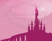 NEW ITEM 6ft x 5ft Vinyl Photography Backdrop / Cinderella Inspired / Birthday Photo Booth