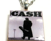 Johnny Cash 1 inch scrabble tile necklace chain included