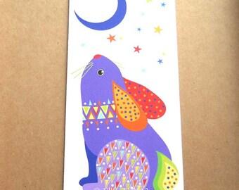 Rabbit greetings card (tall)