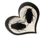 Your love infests me- Acrylic Roach Ring       with adjustable ring band