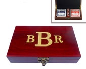 Six (6) Personalized Card & Dice Sets: Gift for Groomsmen, Best Man, Birthdays, Graduations and More