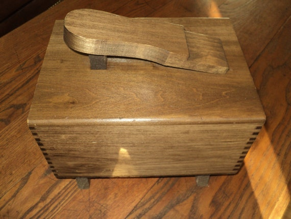 Shoe Shine Kit in Solid Wooden Box with Foot Stand