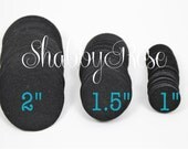 "25 Black 1.5"" Felt Circles - 1.5 inch"