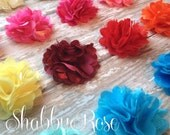 Mesh Satin Flowers- you choose colors