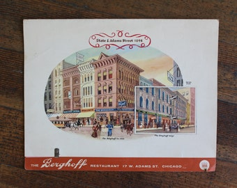 Vintage Berghoff Menu - State and Adams St. Chicago, IL