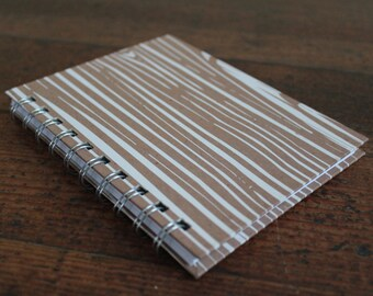 Handmade Spiral Bound - Journal/Notebook (Vintage Wood Grain Graphic)