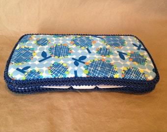 Baby Boy Travel Baby Wipe Case in tree fabric READY TO SHIP!!