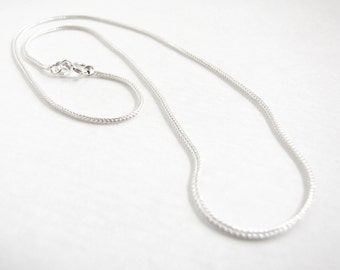 "18"" Sterling Silver chain Fox tail , Sturdy Silver chain , Thick chain"