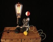 Vintage Fisher Price Lamp with Edison Bulb