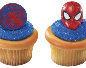 Spider-man cupcake ring