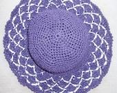Crochet beach hat  organic washable paper - Caribbean