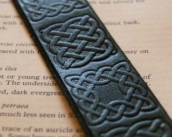Leather Celtic bookmark