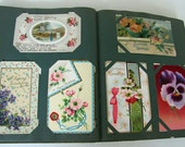 Antique American Greeting Card Album-140 pieces ON SALE