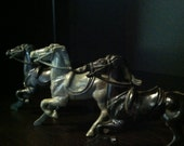 Three Vintage Plastic Toy Horses