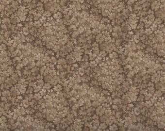 Floral Fabric, Brown Floral Fabric, Brown Fabric, Confetti Floral, 00972