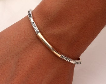 Cuff Bracelet, Silver and Gold Filled (351C.sgf)