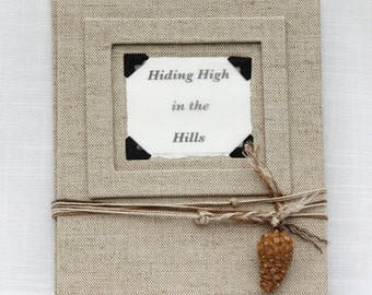HIDING HIGH in the HILLS is a original fine art book some of my animal etchings
