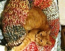 Custom Crocheted Cat Bed or Extra Small Dog Custom any color