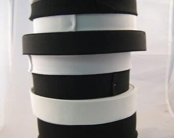 "5m x Flat Woven Elastic Black or White 3/4"", 1"", 1.25"" , 1.5"", 2"""