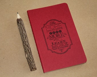 Mini Do More Than You Need To Inspirational Quote Hand Stamped  Journal