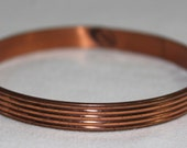 Copper Renoir Signed Bangle Bracelet